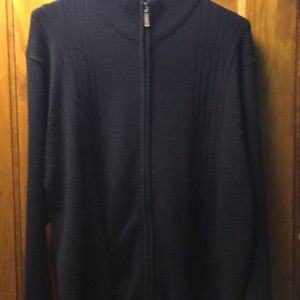 Haggar Men's Black Zipper Sweater